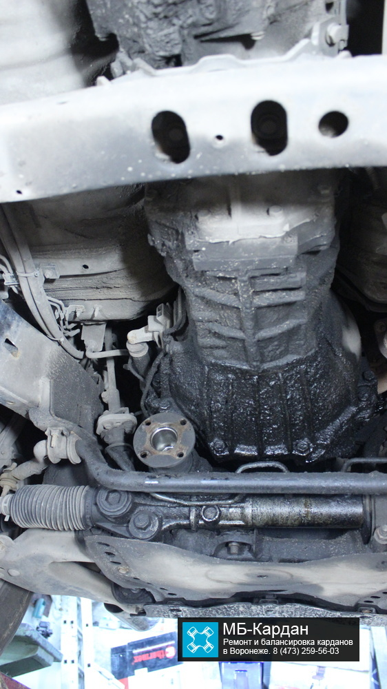 Крепление переднего кардана
