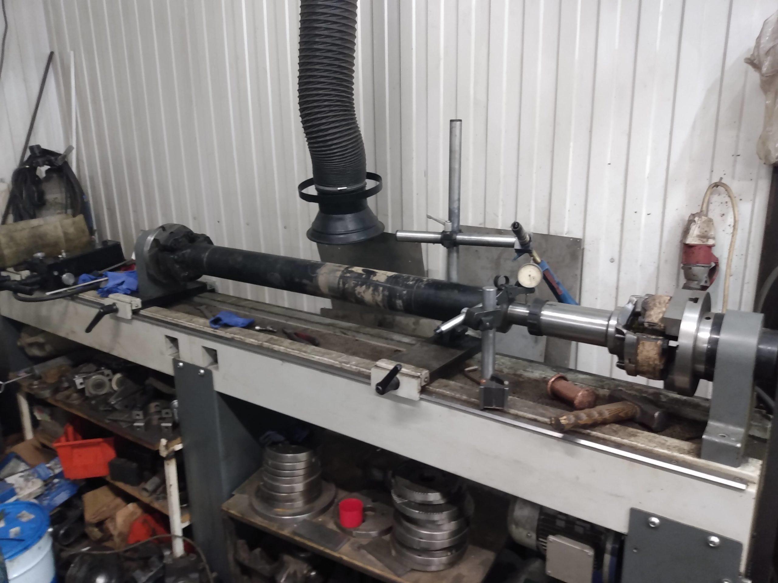 Ремонт карданного вала от грейдера
